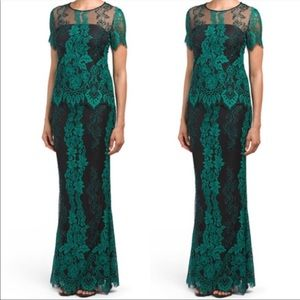 Lotus Threads Two-Piece Embroidered Jeweled Gown 2